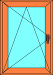 Ремонт окна одностворчатого